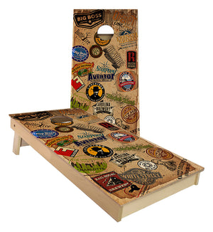 North Carolina Craft Brewery cornhole boards