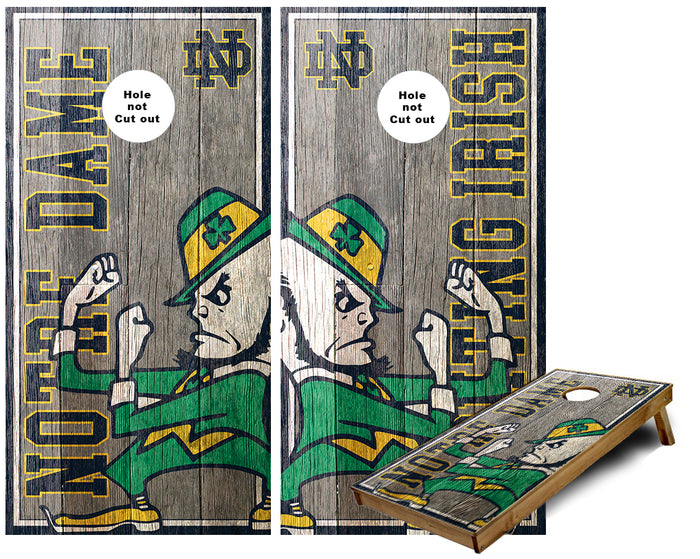 ND Fighting Irish custom Cornhole Wraps
