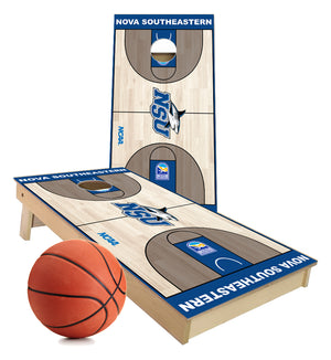Nova Southeastern Sharks Basketball court Cornhole Boards