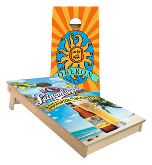 Oberon and Summer Shandy set of Cornhole Boards