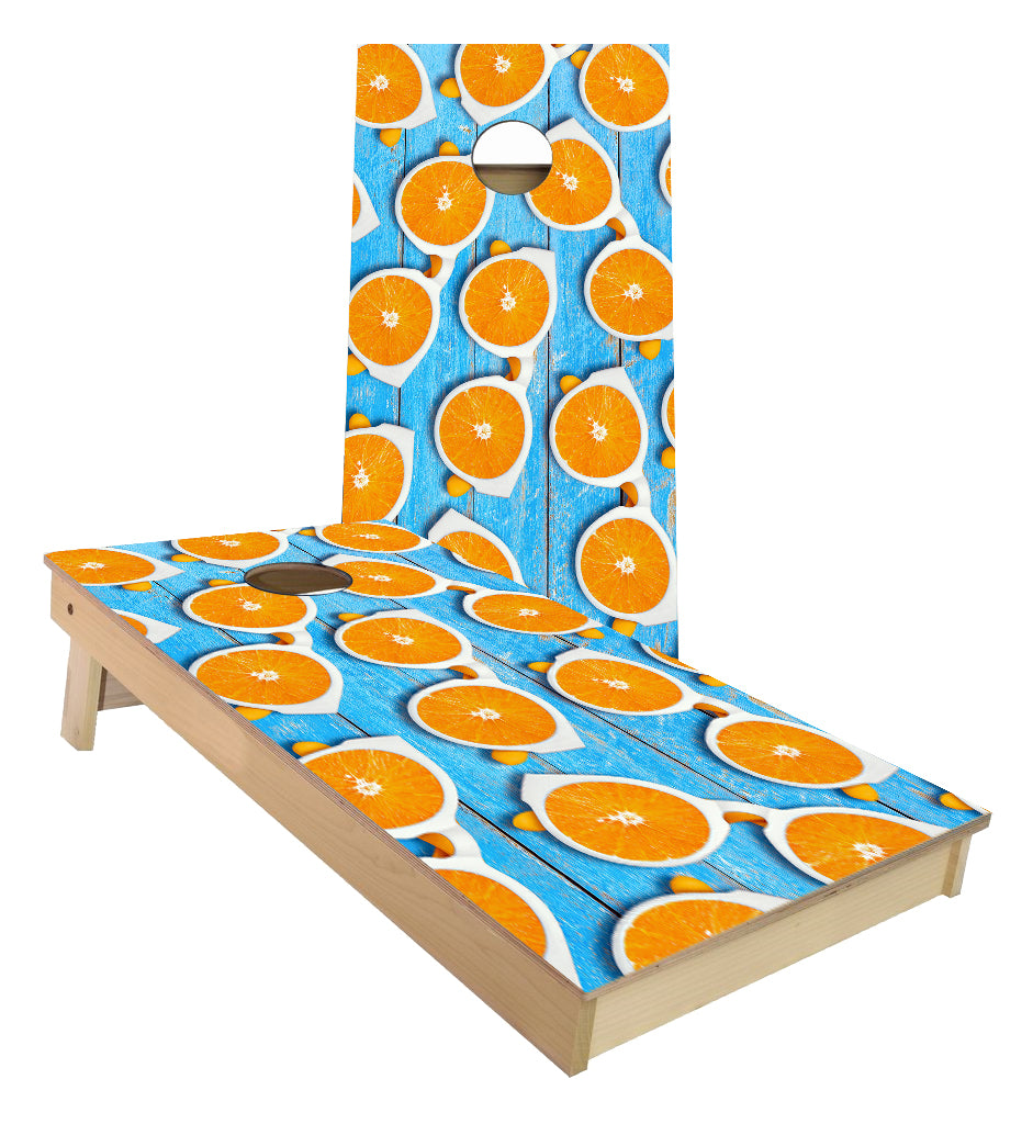 Oranges Sunglasses Cornhole Boards