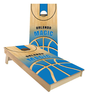 Orlando Magic Basketball Court Cornhole Boards