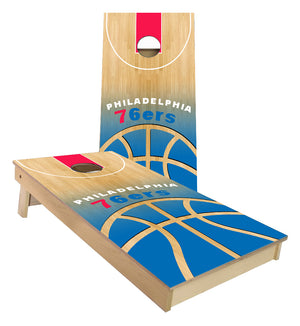 Philadelphia 76ers Basketball Court Cornhole Boards