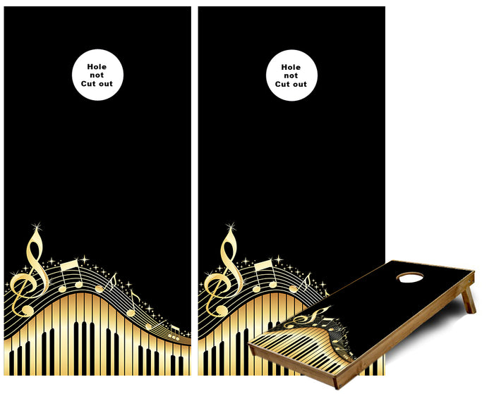 Piano Music Notes Cornhole Wraps