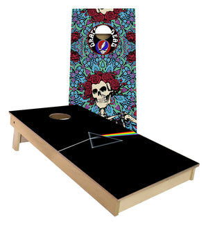 Pink Floyd Dark Side of the Moon and Grateful Dead custom Cornhole Boards