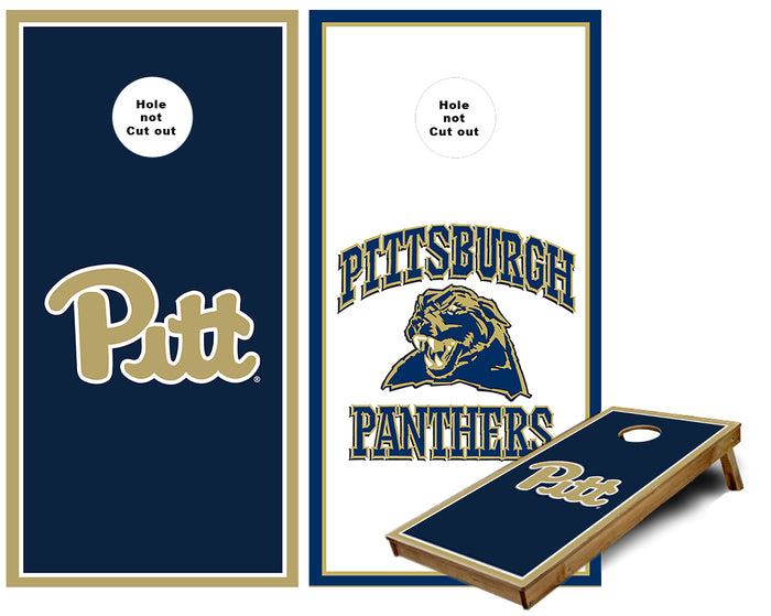 Pitt  and Pittsburgh Panthers Cornhole Wraps