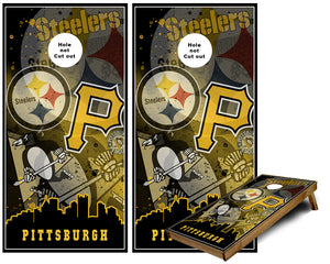 Pittsburgh Sports Teams Cornhole Wraps Pennsylvania