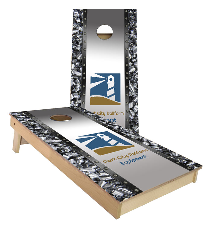Port City Rollform Equipment Custom Cornhole Boards