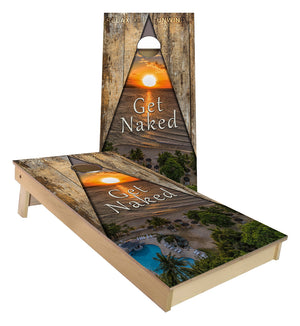 Get Naked Beach custom Cornhole Boards
