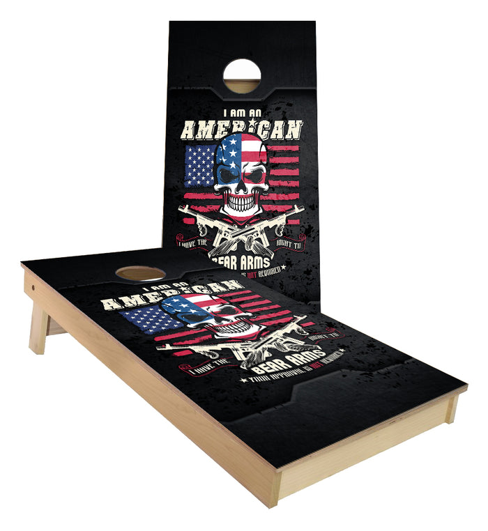 American Right to Bear Arms 2nd Amendment cornhole boards