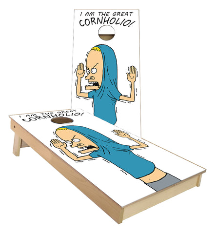 The Great Cornholio Beavis cornhole boards