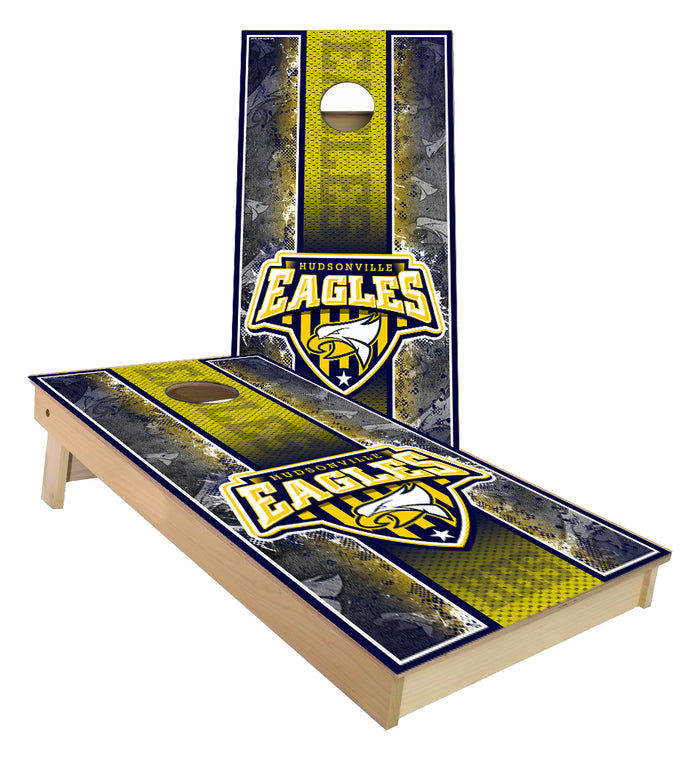 Hudsonville Eagles Schools custom cornhole boards