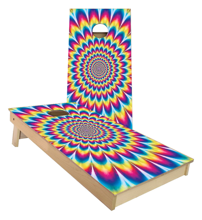 Optical Illusion cornhole boards