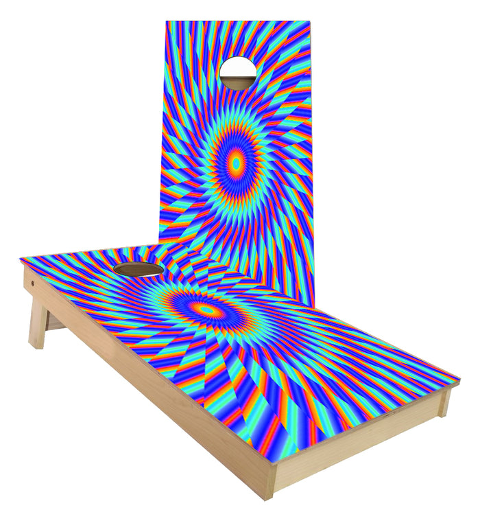 Visual optical Illusion Cornhole Boards