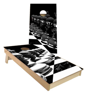 Playing Chess Cornhole Boards
