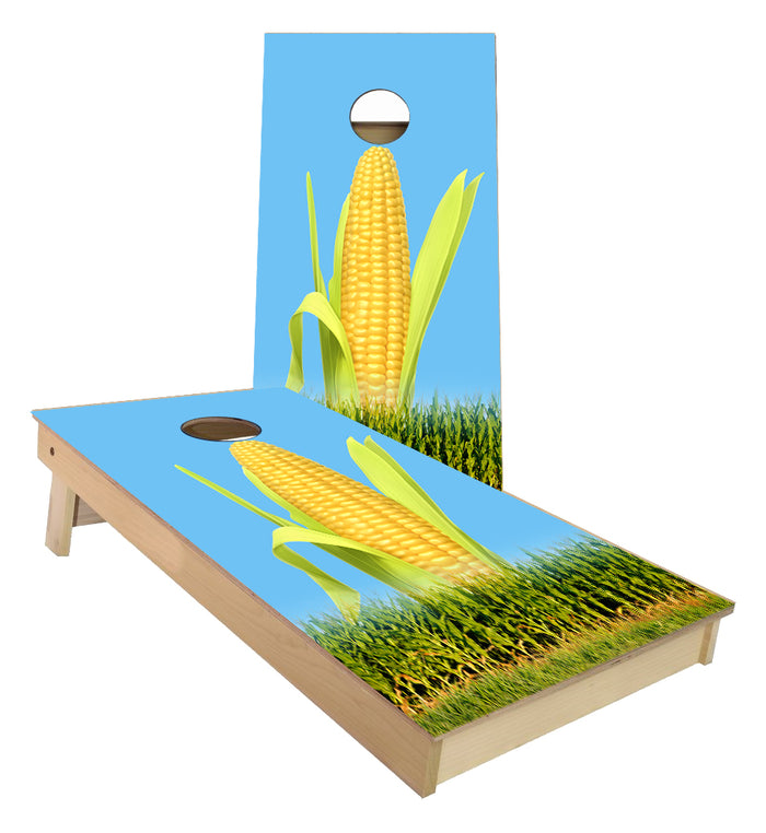 Corn field custom cornhole boards
