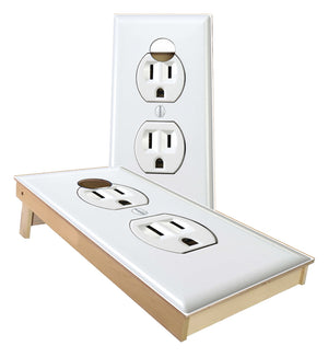 Electrical Outlet 3 prong with ground cornhole boards