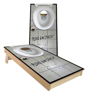 Toilet Bowl aim staight cornhole boards