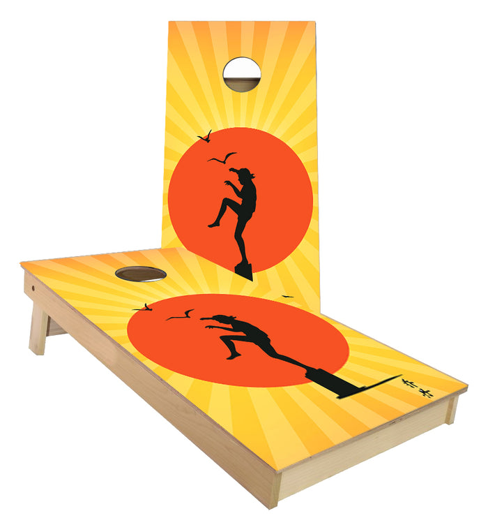 The Karate Kid Crane Technique Cornhole Boards