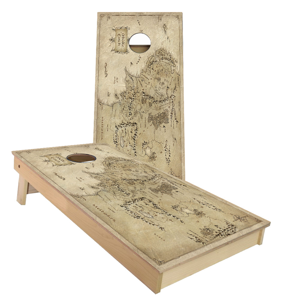Hobbit and Lord of the Rings Map of Mordor Cornhole Boards