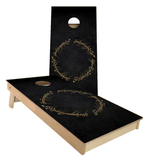 Lord of the Rings Ring script Cornhole Boards
