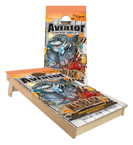 Aviator Brewing MadBeach Cornhole Boards