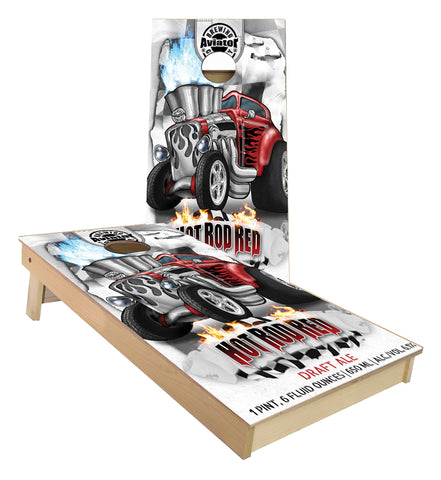 Aviator Brewing Wide Open Red Cornhole Boards
