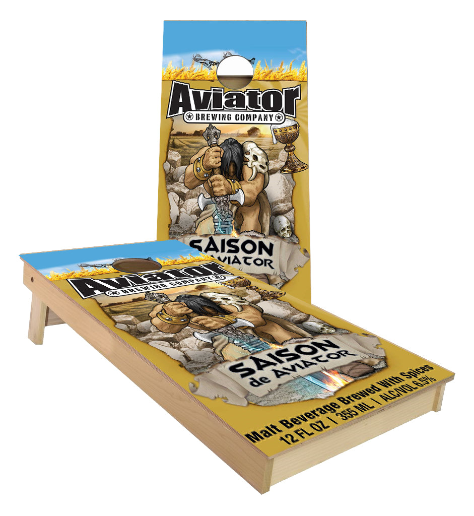Aviator Brewing Saison De Aviator Cornhole Boards