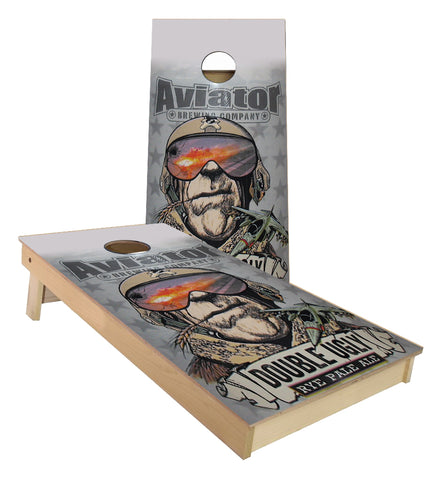 Aviator Brewing Double Ugly Cornhole Boards
