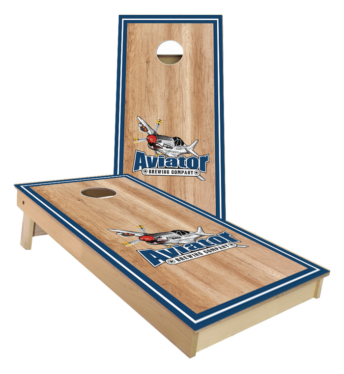 Aviator Brewing Company Cornhole Boards