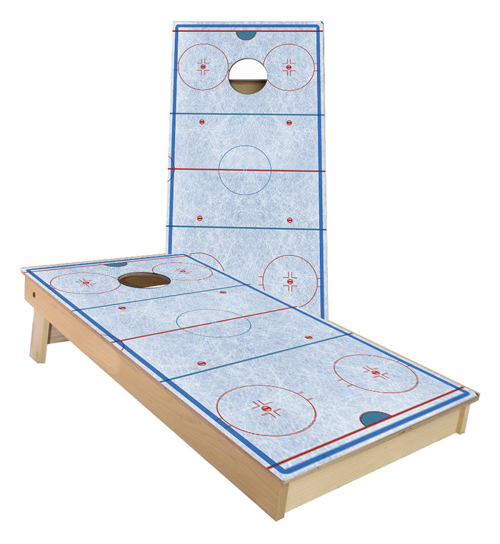 Hockey Ice Rink Cornhole Boards