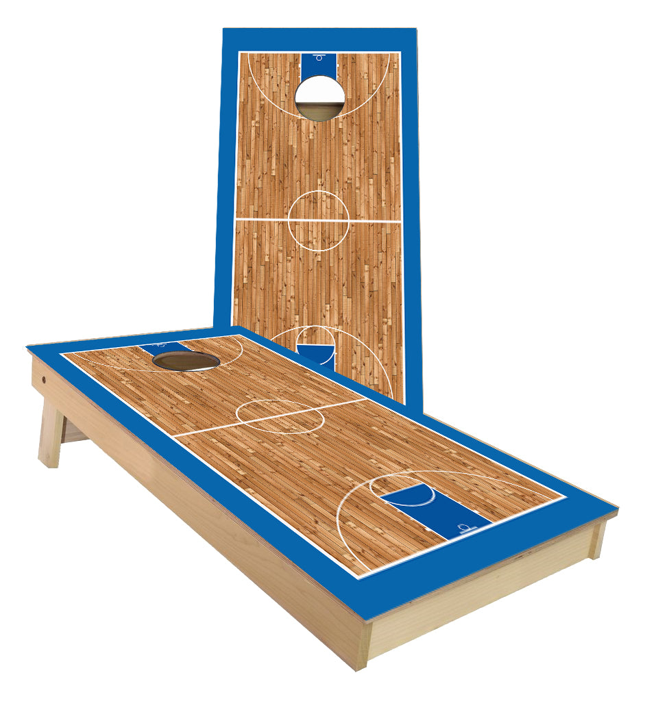 Basketball court Blue Cornhole Boards