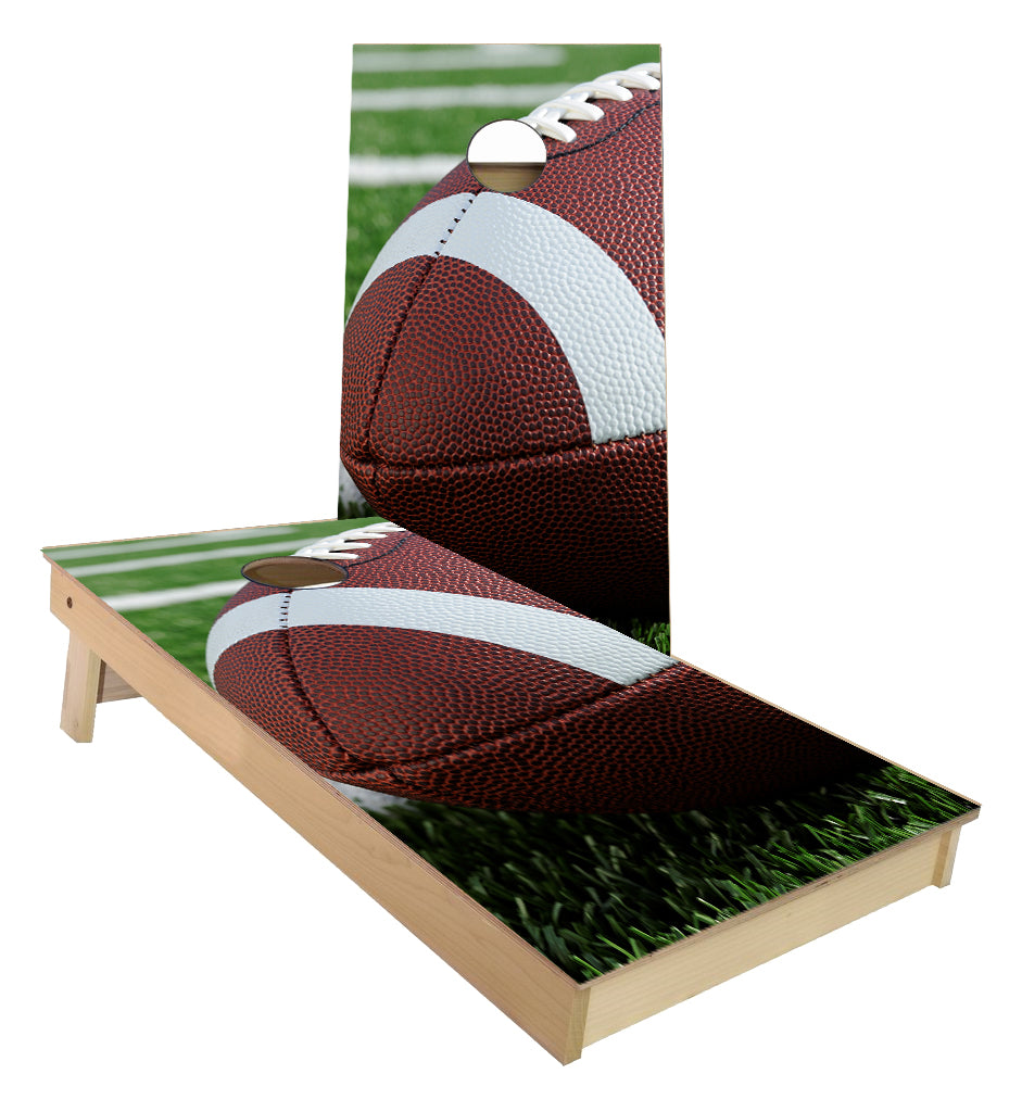 Football on the Grass Cornhole Boards