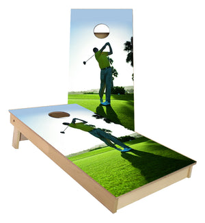 Golf Swing Cornhole Boards