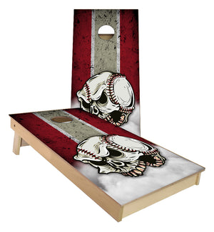 Angry Baseball Traditional Striped Cornhole Boards
