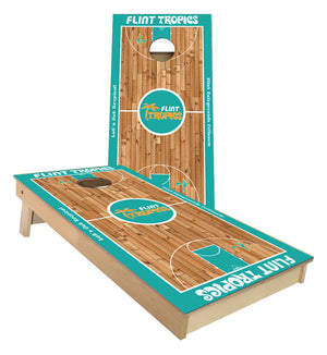 Flint Tropics Basketball Flint Michigan cornhole boards