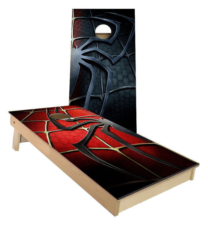 Spider Man Red Black Cornhole Boards