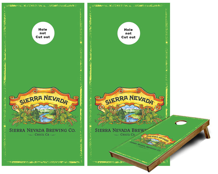 Sierra Nevada brewery custom Cornhole Wraps