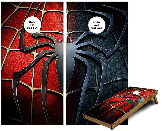 Spiderman Hero Villian Cornhole Wraps