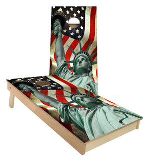 Statue of Liberty United State of America Flag cornhole boards