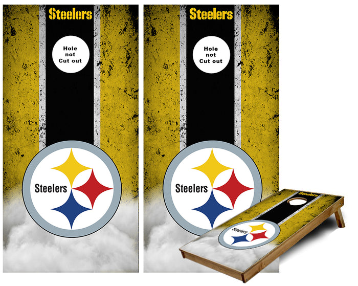 Pittsburgh Steelers Cloud striped Cornhole Wraps