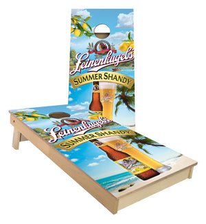 Summer Shandy custom cornhole boards