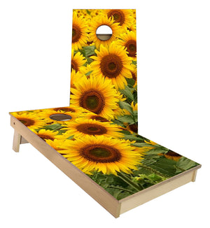 Sunflower Farming Cornhole Boards