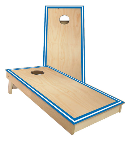 Traditional Sports Stripes Blue and White Cornhole Boards