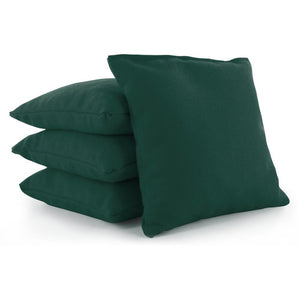 Dark Green Plastic Resin All-Weather cornhole bags set of 4