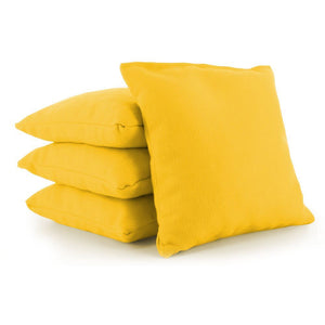 Yellow Plastic Resin All-Weather cornhole bags set of 4