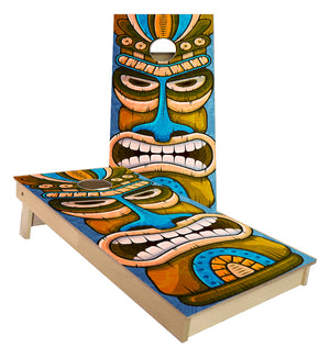 TIKI Hut Guy Beach Hawaiin Theme cornhole boards