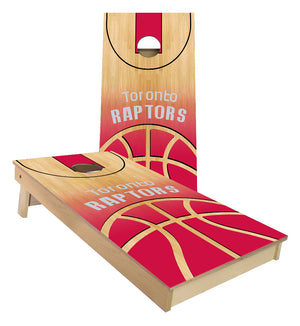 Toronto Raptors Basketball Court Cornhole Boards