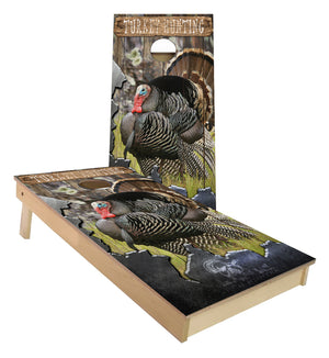 Gone Turkey Hunting Custom Cornhole Boards