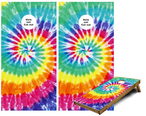 Tye Dye background Cornhole Wraps